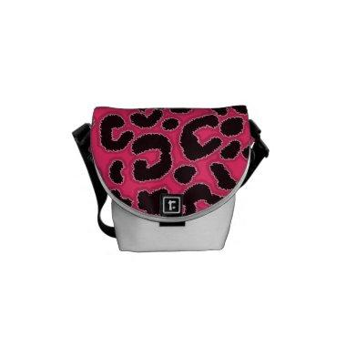 Hot Pink Leopard Animal Print Courier Bag