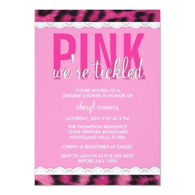 Hot Pink Lingerie Shower Invitations
