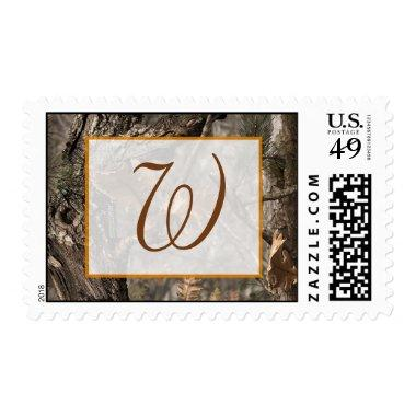 Hunter's Camo Chic Wedding Postage Stamps