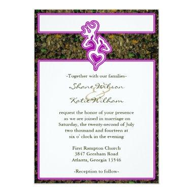 Hunting Wedding Custom Outline Color Invitations