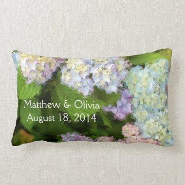 Hydrangeas Watercolor Pillow