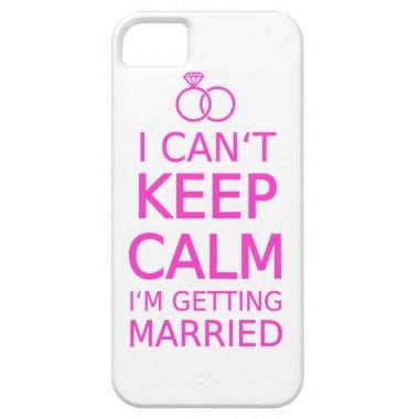 I can't keep calm, I'm getting married iPhone SE/5/5s Case
