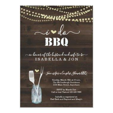 I Do BBQ Couples Wedding Bridal Shower Engagement Invitations