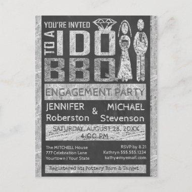 I Do   BBQ   Engagement Party Invitation Post