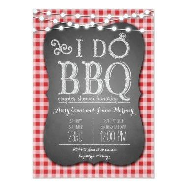 I Do BBQ Red Gingham Couples Shower in Chalk