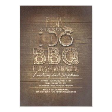 I do BBQ wooden couples shower