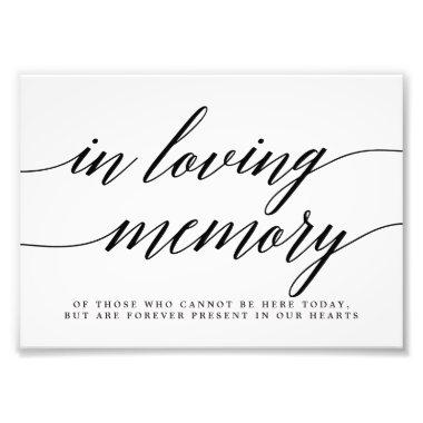 In Loving Memory Sign EDITABLE COLOR MSC