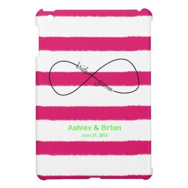 Infinity Bride & Groom Wedding Customizable iPad Mini Cover