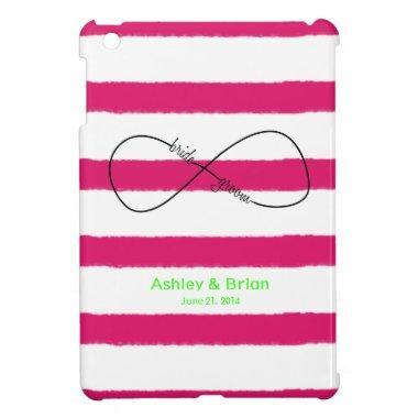 Infinity Bride & Groom Wedding Customizable iPad Mini Cover