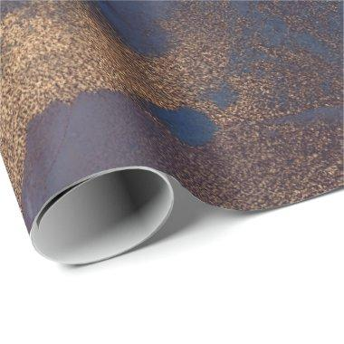 Ink Liquid Paint Blue Bronze Copper Purple Gold Wrapping Paper