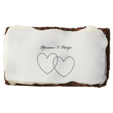 """Interlocking Hearts"" Chocolate Brownie"