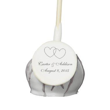 """Interlocking Hearts"" Personalized Cake Pops"