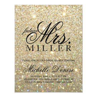 Invite - Gold Glit Fab future Mrs.  3