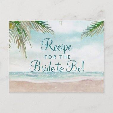 Island Breeze Sandy Beach Bride to Be Recipe Invitations