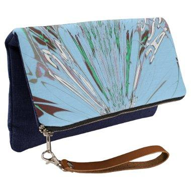 Italian blue coral teal every woman accessory , clutch