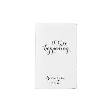 It's All Happening Wedding Planning Pocket Moleskine Notebook