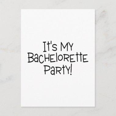 Its My Bachelorette Party Invitation PostInvitations