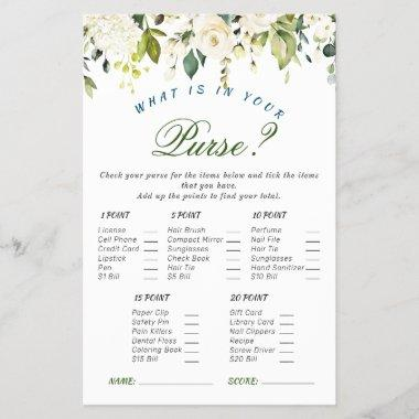 Ivory White Roses Floral Bridal Shower Game