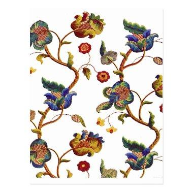Jacobean Embroidered Albemarle Pattern PostInvitations