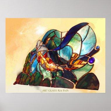 Japanese Fine Art Koi Fish Design Poster