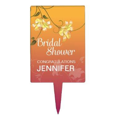 Juicy Floral Ombre  Cake Topper