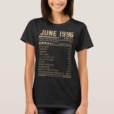 june 1996 birthday t-shirts