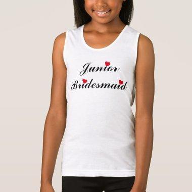 Junior Bridesmaid  Wedding Tank Top