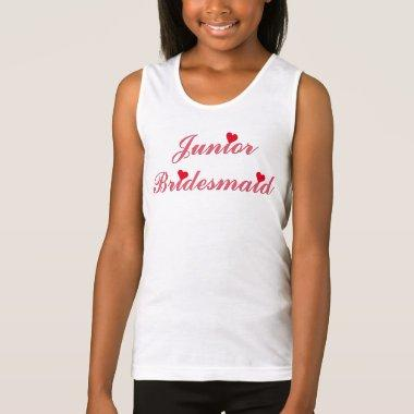 Junior Bridesmaid  Wedding Tank Top