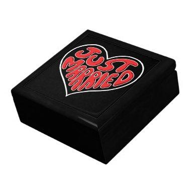 Just Married Heart Jewelry Box