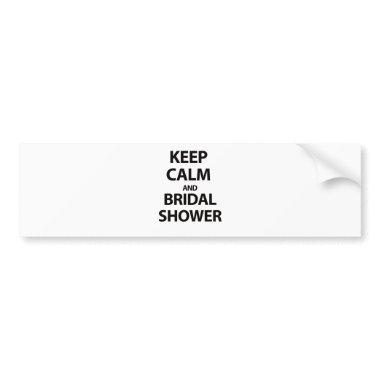 Keep Calm and ! Bumper Sticker