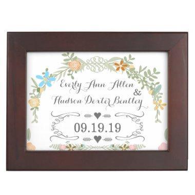 Keepsake Wedding Date Anniversary Box