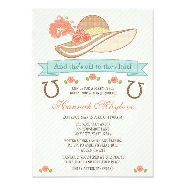 KENTUCKY DERBY HAT BRIDAL SHOWER Invitations