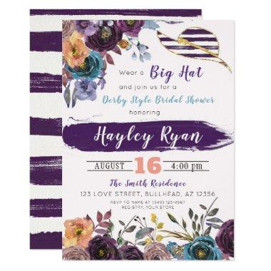 Kentucky Derby Style Fall Bridal Shower Invitations