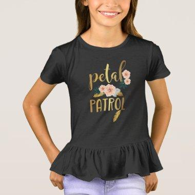 Kids Flower Girl Bridesmaid Petal Patrol T-Shirt