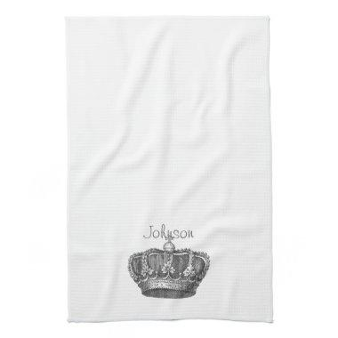 King's Crown Your Text Hand Towel