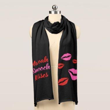 Kiss Mwoah Smooch Shower Party Jersey Scarf