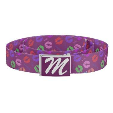 Kisses Monogrammed Belt