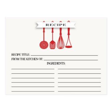 Kitchen Red Utensils  Recipe