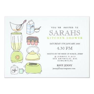 Kitchen Tea Bridal Shower Party Invite