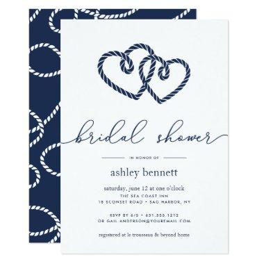 Knotted Hearts Bridal Shower Invitations