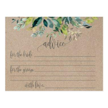 Kraft Foliage Marriage Advice Cards