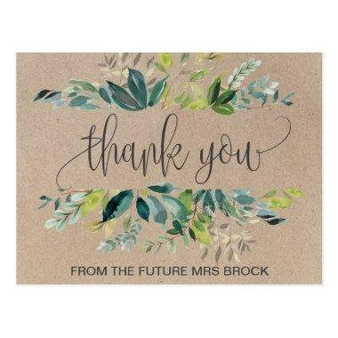 Kraft Foliage Thank You PostInvitations