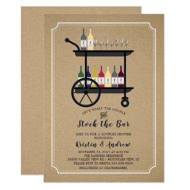 Kraft Stock the Bar Couples Shower Invitations