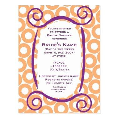 KRW Orange Circle Custom Shower Invitation Post
