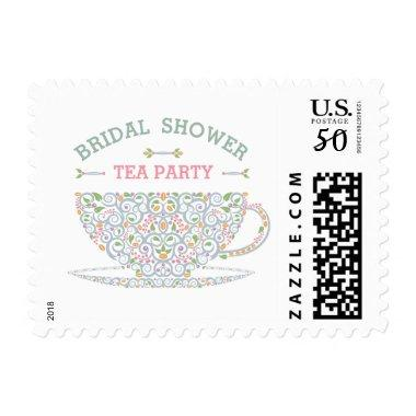 Lacy Teacup  Tea Party Stamp II