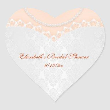 Lacy Wedding Gown Heart Sticker