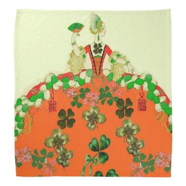 LADY ORANGE AND SHAMROCKS St. Patricks Day Party Bandana