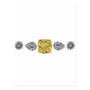 Lady Yellow Diamond Necklace Post