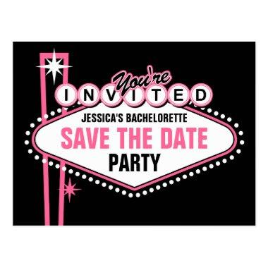Las Vegas Pink Save The Date Post