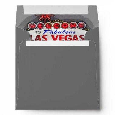 Las Vegas Sign silver Envelope